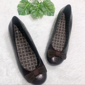 Vionic Orthaheel Lydia Demi-Wedge Croc Brown